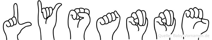 Lysanne in Fingersprache für Gehörlose