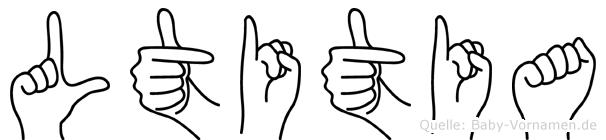 Lätitia in Fingersprache für Gehörlose