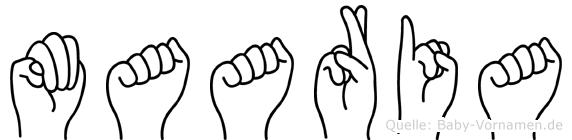 Maaria in Fingersprache für Gehörlose