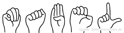 Mabel in Fingersprache für Gehörlose