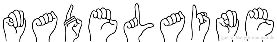 Madelaine im Fingeralphabet der Deutschen Gebärdensprache
