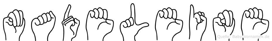 Madeleine in Fingersprache für Gehörlose