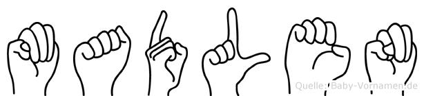 Madlen in Fingersprache für Gehörlose