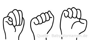 Mae in Fingersprache für Gehörlose