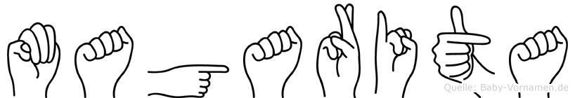Magarita im Fingeralphabet der Deutschen Gebärdensprache