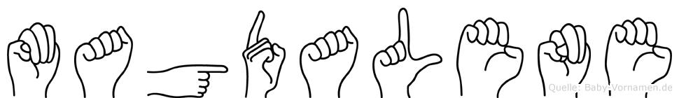 Magdalene in Fingersprache für Gehörlose
