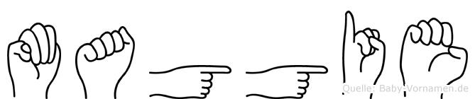 Maggie in Fingersprache für Gehörlose