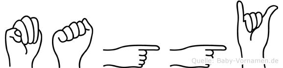 Maggy in Fingersprache für Gehörlose