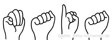 Maia in Fingersprache für Gehörlose
