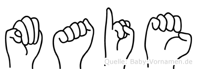 Maie in Fingersprache für Gehörlose