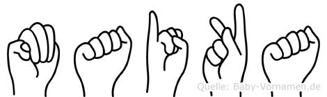 Maika im Fingeralphabet der Deutschen Gebärdensprache