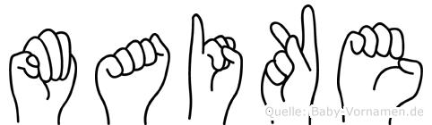 Maike im Fingeralphabet der Deutschen Gebärdensprache