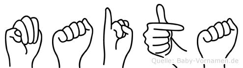 Maita in Fingersprache für Gehörlose