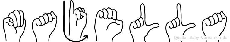 Majella in Fingersprache für Gehörlose