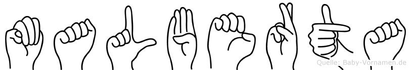 Malberta in Fingersprache für Gehörlose
