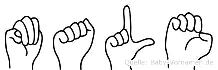 Male in Fingersprache für Gehörlose