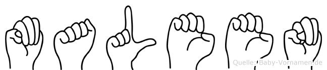 Maleen in Fingersprache für Gehörlose