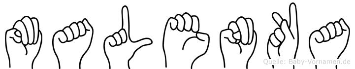 Malenka in Fingersprache für Gehörlose