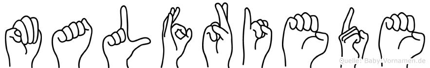 Malfriede in Fingersprache für Gehörlose