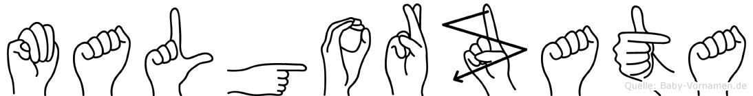 Malgorzata im Fingeralphabet der Deutschen Gebärdensprache