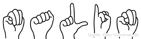 Malin in Fingersprache für Gehörlose