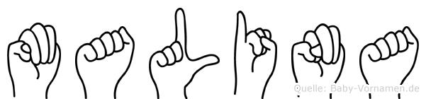 Malina im Fingeralphabet der Deutschen Gebärdensprache