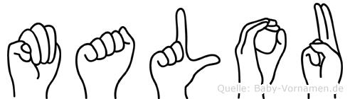 Malou in Fingersprache für Gehörlose