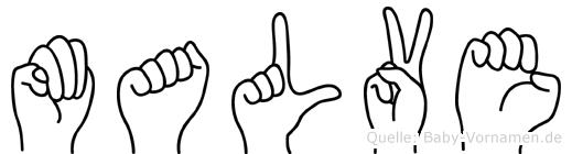 Malve in Fingersprache für Gehörlose