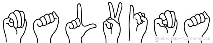 Malvina in Fingersprache für Gehörlose