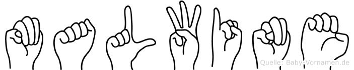 Malwine in Fingersprache für Gehörlose