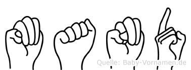 Mand in Fingersprache für Gehörlose