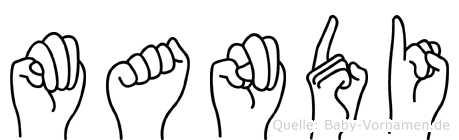 Mandi in Fingersprache für Gehörlose