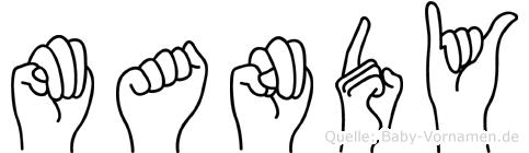 Mandy in Fingersprache für Gehörlose