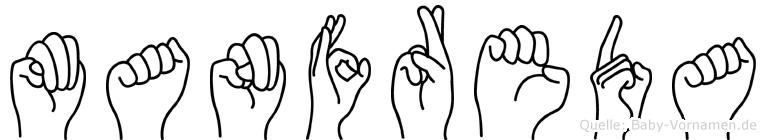 Manfreda im Fingeralphabet der Deutschen Gebärdensprache