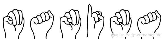 Manina in Fingersprache für Gehörlose