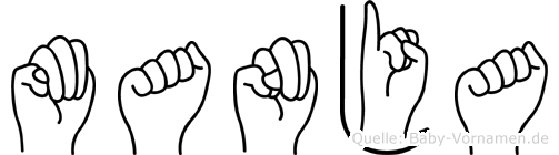 Manja im Fingeralphabet der Deutschen Gebärdensprache