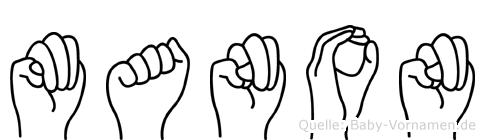 Manon in Fingersprache für Gehörlose