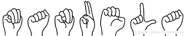 Manuela in Fingersprache für Gehörlose