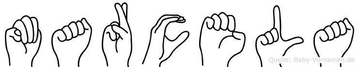 Marcela im Fingeralphabet der Deutschen Gebärdensprache