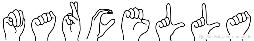 Marcella in Fingersprache für Gehörlose