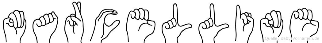 Marcelline in Fingersprache für Gehörlose
