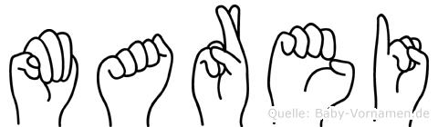 Marei in Fingersprache für Gehörlose