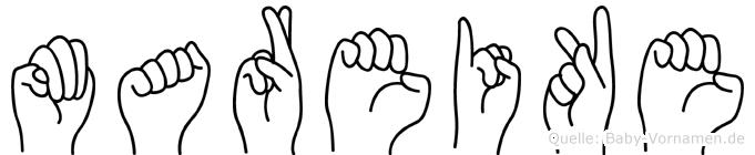 Mareike im Fingeralphabet der Deutschen Gebärdensprache