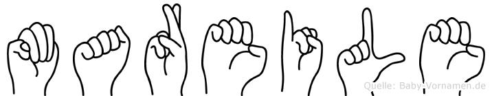 Mareile im Fingeralphabet der Deutschen Gebärdensprache