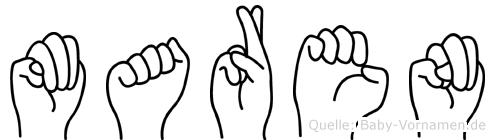 Maren in Fingersprache für Gehörlose