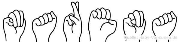 Marena in Fingersprache für Gehörlose