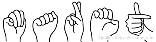 Maret im Fingeralphabet der Deutschen Gebärdensprache