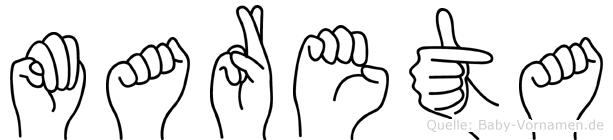 Mareta in Fingersprache für Gehörlose