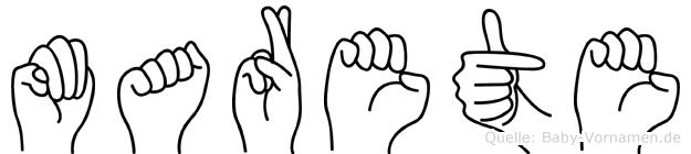 Marete in Fingersprache für Gehörlose