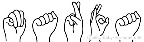 Marfa in Fingersprache für Gehörlose